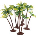 5.7Inch Height LOT 5 Coconut Palm Palms Twin Coco