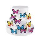 GEORLD Set of 100 Butterfly Cake & Cupcake Toppe