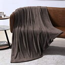 EXQ Home Fleece Blanket Chocolate Brown Twin Blank