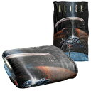 Trevco Alien Prey Silky Touch Super Soft Throw Bl