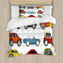 Lunarable Boy's Room Duvet Cover Set Twin Size、Rac