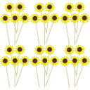 60 Pieces Sunflower Cupcake Toppers Sunflower Cupca