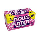 Now&Laterオリジナルタフィーチューズキャンディ、ストロベリー、0.93オンスバー、24パック Now and Later Now & Later Original Taffy Chews Candy, Strawberry, 0.93 Ounce Bar, Pack of 24