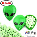 ショッピングアルミ Extraterrestrial Green Alien Head Tin Candy Sours