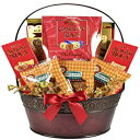 The Classy Gourmet Gift Basket in Burgundy Planter
