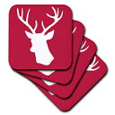 3dRose CST_112849_3 Red Deer Stag Head Silhouette