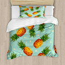 Ambesonne Retro Duvet Cover Set Twin Size, Poly St