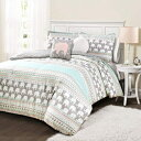 Lush Decor Elephant Stripe 4 Piece Comforter Set,