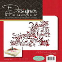 Designer Stencils C161 Feathered Scroll Corner Cake