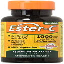 American Health Ester-C with Citrus Bioflavonoids Vegetarian Tablets - 24-Hour Immune Support, Gentle On Stomach, Non-Acidic Vitamin C - Non-GMO, Gluten-Free, Vegan - 1000 mg, 45 Count, 45 Servings