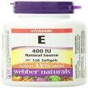 Webber Naturals Vitamin E Natural Source Softgel,