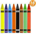 Emraw Jumbo Triangle Crayons 8 Color – for Schoo