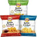 ショッピングケトル Lay's Kettle Cooked Potato Chips Variety Pack, 4