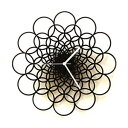 """Rings - 16"""" Unique Contemporary Handmade Wooden Wall Clock in larger size, Geometric Design by ardeola"""