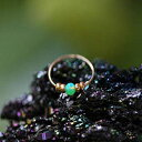 Thin 14k Gold Filled Nose Ring - 2 mm Green Opa