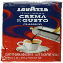 Lavazza Crema e Gusto Ground Coffee Blend, Espresso Dark Roast, 8.8-Ounce Bags (Pack of 4).