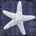 Posterazzi Blue Print Star Fish Poster Print by Walter Robertson (24 x 24)
