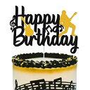 ショッピングノート Music Cake Topper Happy Birthday Sign Musical Note