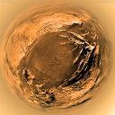 Posterazzi Fish-eye View of Titan's Surface Poster Print, (28 x 28)