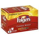 Folgers Classic Roast Ground Coffee Kcup Pods, 0.28 Oz,12 Count