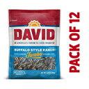 楽天GlomarketBuffalo Style Ranch、DAVIDのローストと塩漬けのバッファロースタイルランチジャンボヒマワリの種、5.25オンス、12パック DAVID Seeds Buffalo Style Ranch, DAVID Roasted and Salted Buffalo Style Ranch Jumbo Sunflower Seeds, 5.25 oz, 12 Pac