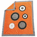 ショッピングキルト One Grace Place Teyo's Tires Medium Quilt, Black, White, Grey, Orange