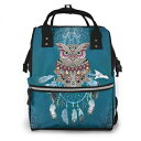 XinMing Owl Tribal Dream Catcher Diaper Bag Backpack Bookbag School Shoulder Multi Functional Stylish Nappy Bags Travel Orgainzer