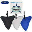 QUALEAP Shark Tooth Chew Necklace for Kids, Boys or Girls - Chewing Necklace Teething Necklace Teether Necklace Chew Toys Teething Toys - Designed for Chewing, Autism, Autism Sensory Teether Toy (3 Pack)