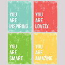 You Are Collection, Set of Four 24x36 Inch Print