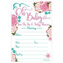 m&h invites Sweet Blooms Baby Shower Invitations (20 Count) with Envelopes