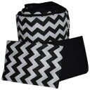 BabyDoll Bedding Baby Doll Bedding Chevron Grandma Pack, Black