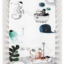 Rookie Humans 100 Cotton Sateen Fitted Crib Sheet: Underwater Love. Complements Modern Nursery, Use as a Photo Background for Your Baby Pictures. Standard Crib Size (52 x 28 inches) (Cotton Sateen)