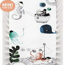 Mini Crib Sheets by Rookie Humans: 100 Cotton Sateen. Complements Modern Nursery Room, Use as a Photo Background for Your Baby Pictures. Fits Mini Crib Size (38x24 inches) (Underwater Love)