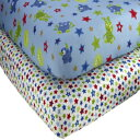 Little Bedding by NoJo Monster Babies - 2 Count Crib Sheet Set