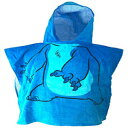 Disney Lilo and Stitch Hooded Poncho Style Changing Towel , Ages 3 to 8 - Blue - Youth Size