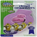 Baby Buddy Size-It Closet Organizers - Baby Clothes Closet Dividers – Nursery Clothing Organization for Babies and Kids up to Size 8, Pink, 10 Count