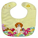 Caroline's Treasures Easter Eggs Baby Bib, Beagle Tricolor, Large