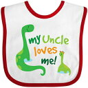 Inktastic - My Uncle Loves Me Baby Bib White/Red 19fad