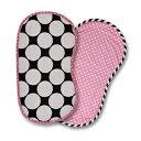 Bacati 2 Piece Dots/Pin Stripes with Pink Pin Dots Burpies Set, Black/White