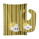 Caroline's Treasures Weather Baby Bib & Burp Cloth, Partly Cloudy Face, Large