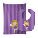Caroline's Treasures Ginger Haired Fairy No. 2 Baby Bib & Burp Cloth, Multicolor, Large