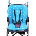 Ponini Stroller and Car Seat Replacement Parts/Accessories to fit BOB Products for Babies, Toddlers, and Children (Blue Polka Dot Cushion)