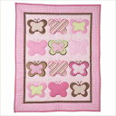 WINLIFE Crib Bedding Set for Girls & Boys Crib Quilts 33''x42'' Baby Quit (Butterfly)