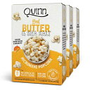 Quinn Snacks Microwave Popcorn-Non-GMO Corn、Real Butter&Sea Salt、6.9 Ounce(Pack of 3) Quinn Snacks Microwave Popcorn - Ma..