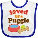 Inktastic - Puggle Dog Lover Baby Bib White/Royal d80d