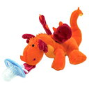 Channellitte Dragon Pacifier with Stuffed Animal – Baby Binky for Newborns and Toddlers – Unisex Product for Babies – Suitable as Made of Non Latex Silicone and Plush
