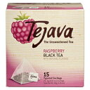 Tejava Raspberry Black Tea Bags, 15 Tea Bags Per Box, Award-Winning Tea, Unsweetened, Individually Packaged Pyramid Bags, 100% Natural