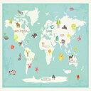 Children Inspire Design Our World Interactive Map, 11x14 Inch Print World Map, Children 039 s Wall Art Map, Kid 039 s World Map, Educational Nursery Décor, Nature Themed Nursery, Nursery Wall Art, Kid 039 s Art