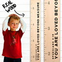 Growth Chart Art | Wooden Height Chart | Scripture Growth Chart for Babies, Kids, Boys & Girls (Loved Beyond Measure)