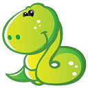 Wallmonkeys WM53182 Cute Baby Green Cartoon Snake Peel and Stick Wall Decals (30 in H x 25 in W), Medium-Large